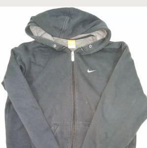 Men's M Nike athletic black full zip hoodie